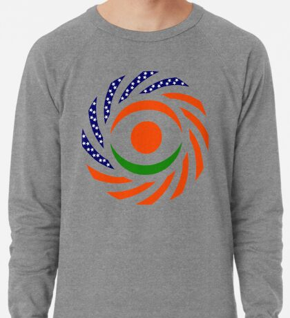 Niger American Multinational Patriot Flag Series Lightweight Sweatshirt