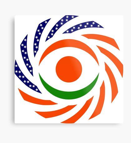Niger American Multinational Patriot Flag Series Metal Print