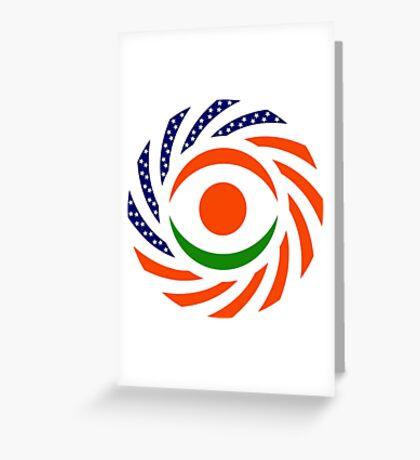 Niger American Multinational Patriot Flag Series Greeting Card