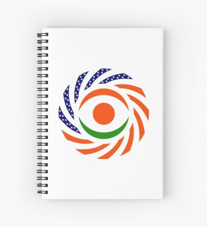 Niger American Multinational Patriot Flag Series Spiral Notebook