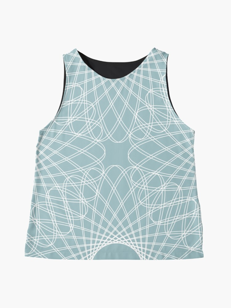 Alternate view of mathematical rotating roses - pale blue Sleeveless Top