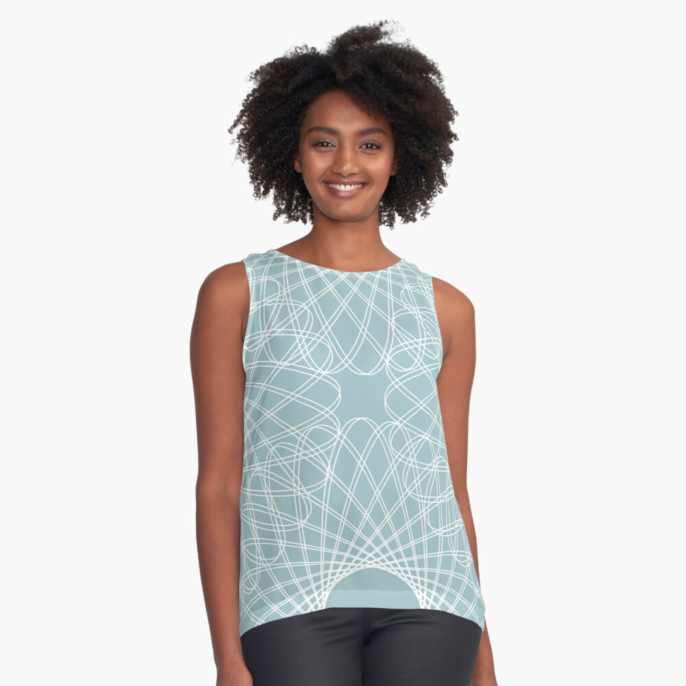 mathematical rotating roses - pale blue Sleeveless Top