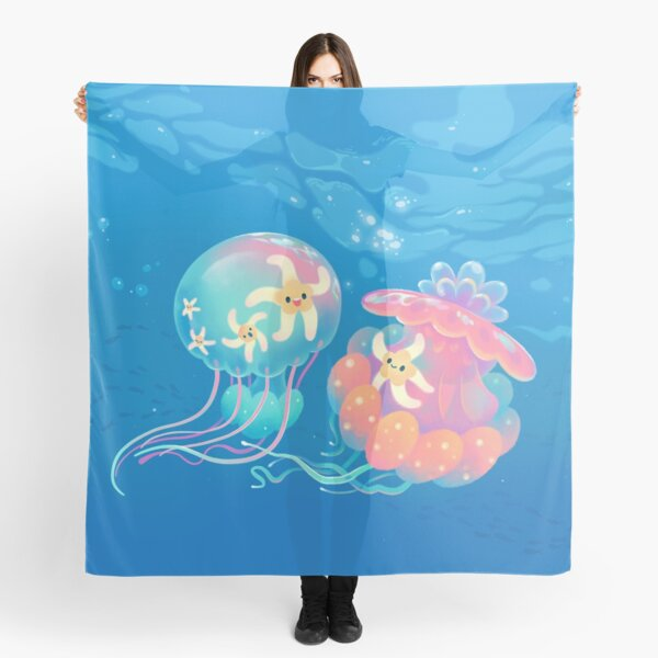 Goldfish scarf Gold fish scarves birthday gift for her anniversary gift aquarium