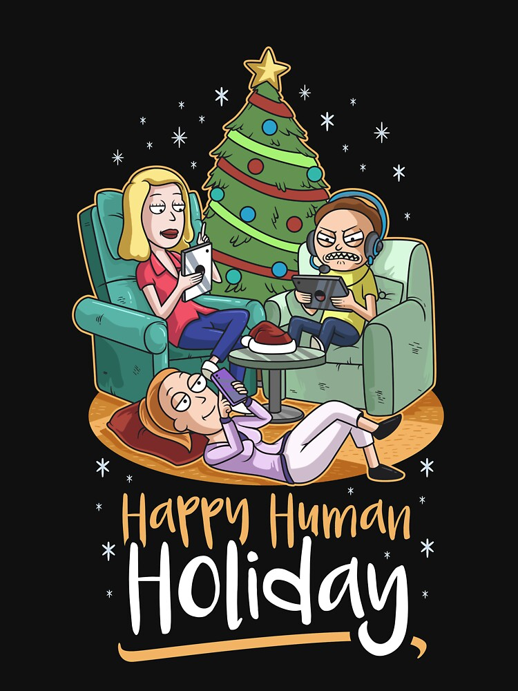 Christmas Happy Human Holiday by B-Cubed-Shirts