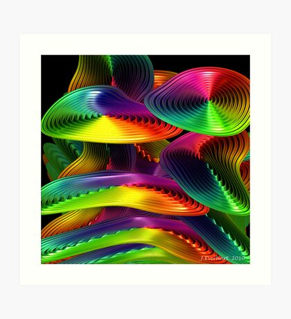 Bend Me Rainbow Beautiful Art Print