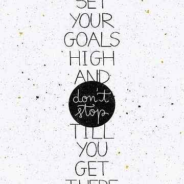 Set your goals high by earthlightened