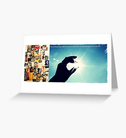 Letters from the sky Greeting Card