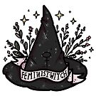 Feminist witch Hat by nevhada