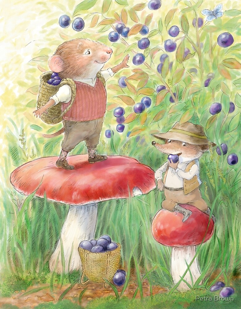 Bilberry Picking by Petra Brown