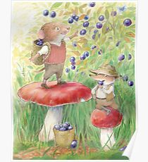 Bilberry Picking Poster