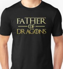 Father Of The Dragons Tee Shirt Gift For Dad Daddy Papa Slim Fit T-Shirt