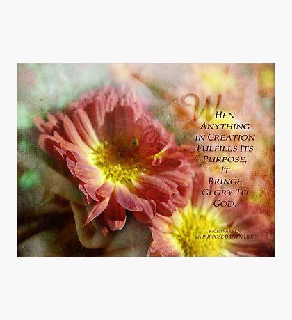 GLORY TO GOD Photographic Print