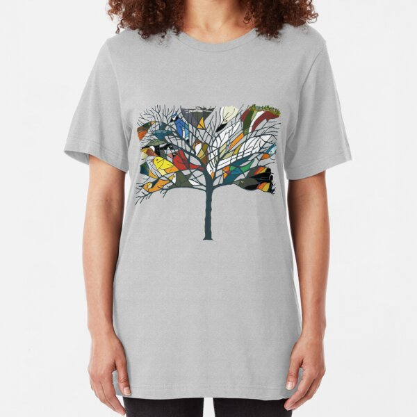 18 Birds in My Tree and more! Slim Fit T-Shirt