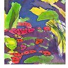 Abstrakter Seerosenteich von CarolineLembke