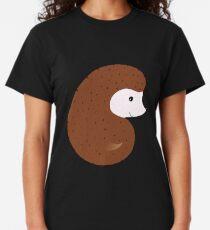 Camiseta clásica Erizo sonriente marrón