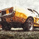unter'm Ford Mustang von coolArtGermany