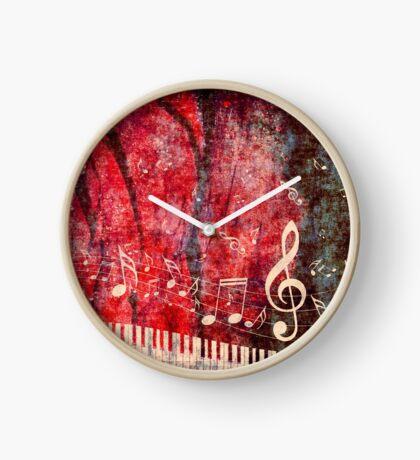 Klaviertastatur mit Musik merkt Grunge 2 Uhr