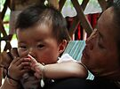 Karen woman and baby by Lois Romer