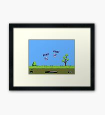 Duck Hunt! Pew! Pew! Framed Print