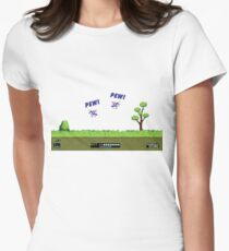 Duck Hunt! Pew! Pew! Womens Fitted T-Shirt
