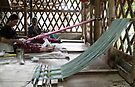 Karen woman weaving by Lois Romer
