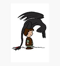 He's Your Dragon, Hiccup Photographic Print