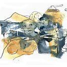« Série bleu et jaune 5 » par Vincent Debats
