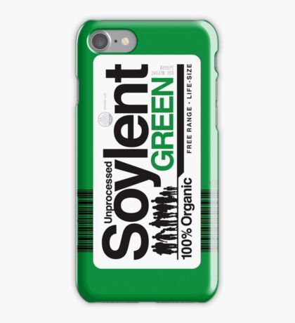Contents: Unprocessed Soylent Green (on Green) iPhone Case/Skin