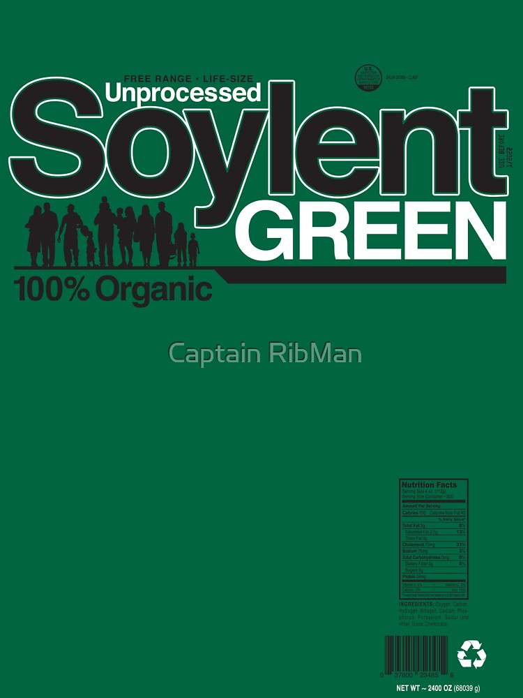 Contents: Unprocessed Soylent Green (on Green) by RibMan