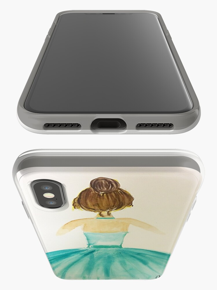 Alternate view of Ballerina in Green iPhone Case & Cover