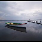 Boat ripples, Long Jetty, NSW, Australia by Lever Photography