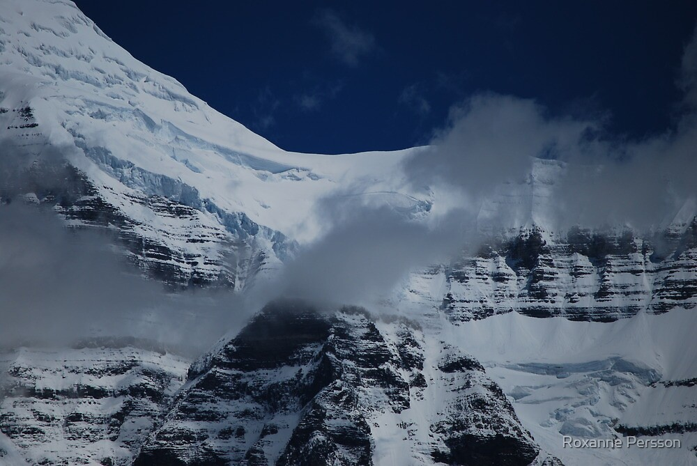 July Snow - Mt. Robson by Roxanne Persson
