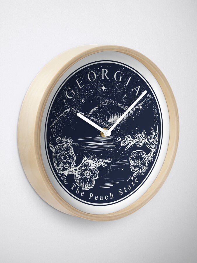 Alternate view of Georgia. The peach state Clock