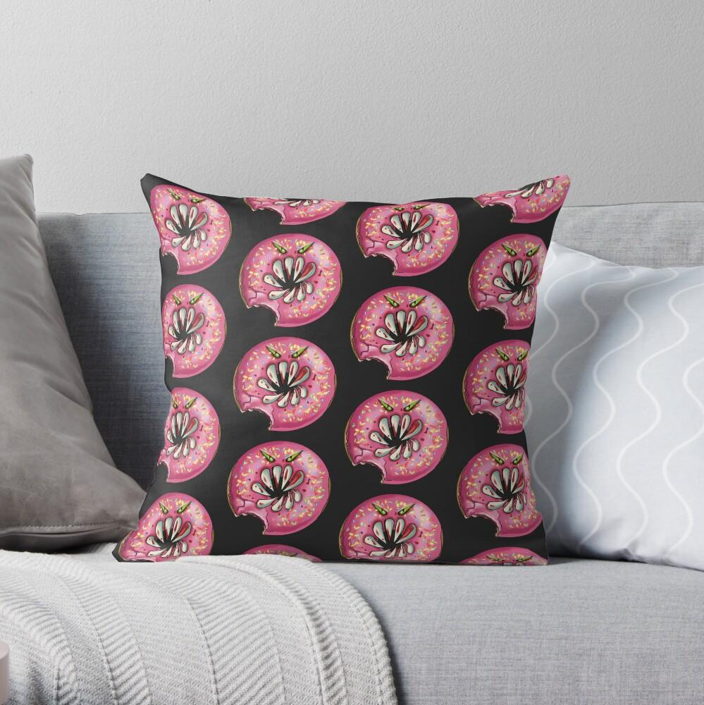 KIller Donuts Throw Pillow