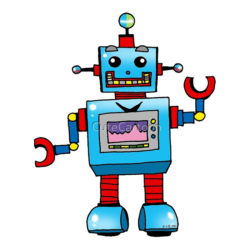 Quot Fun Toy Robot Cartoon Quot By Cutecartoon Redbubble