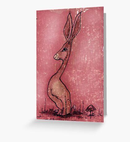 Sketchbook Rabbit Greeting Card