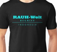 Rauh-Welt Begriff Indonesia Unisex T-Shirt