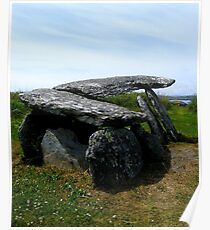 Altar Wedge Tomb, Beara, Co. Cork, Ireland..  Poster