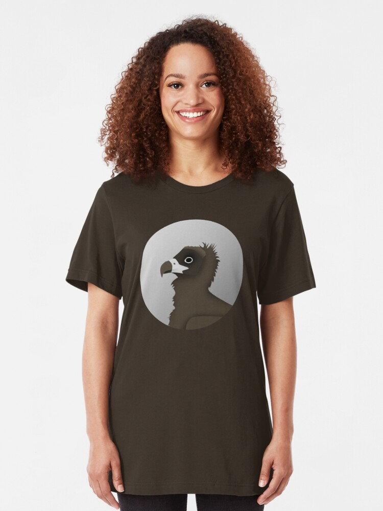 Alternate view of Cinereous Vulture Slim Fit T-Shirt