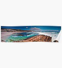Moses Rock Panorama Wilyabrup Beach WA Poster