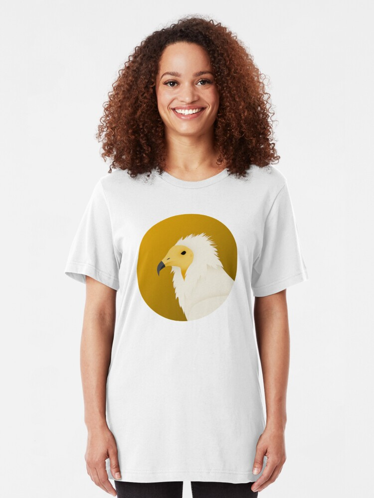 Alternate view of Egyptian Vulture Slim Fit T-Shirt
