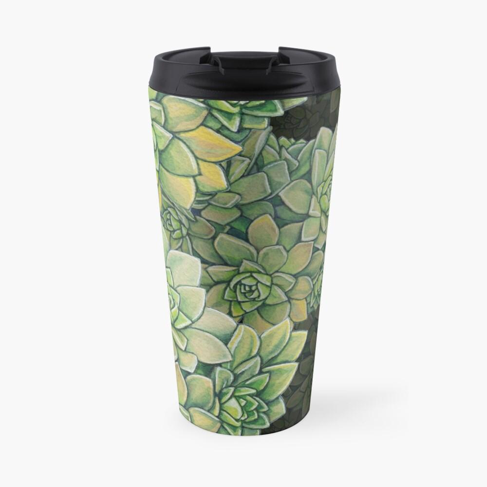Succulent Pattern - Tree houseleek Travel Mug