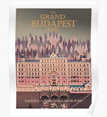 Grand Budapest Hotel Travel Poster Poster