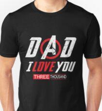 Camiseta ajustada Papa te amo camiseta tres mil