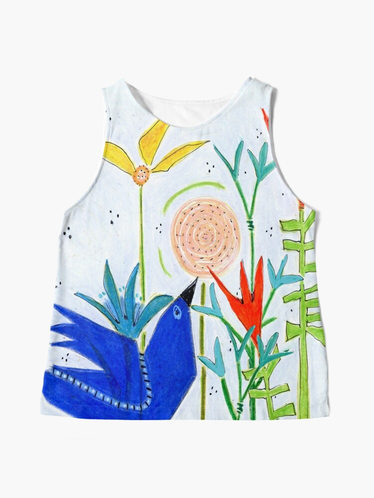 Alternate view of Bird in the Flowers Sleeveless Top