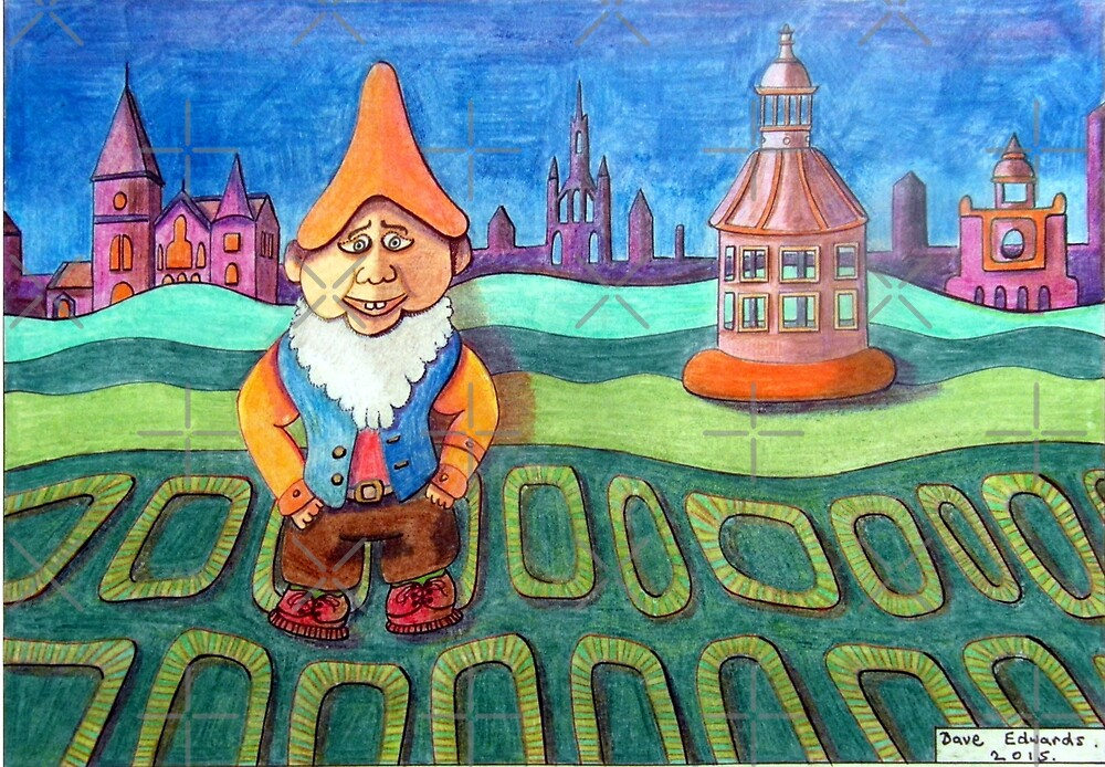 420 - LAND OF THE GNOMES - DAVE EDWARDS - COLOURED PENCILS - 2015 by BLYTHART