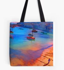 Mousehole Harbor, Cornwall - UK Tote Bag