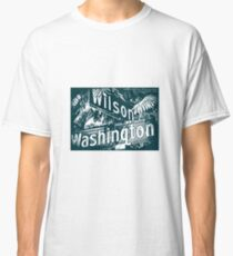 Wilson Avenue & Washington Boulevard1, Pasadena, CA by MWP Classic T-Shirt