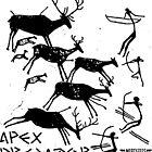 Apex Predator Cave Painting by Artlife