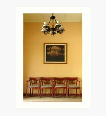 chairs and painting Art Print